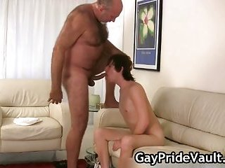 Horny homosexual bear fucking and sucking