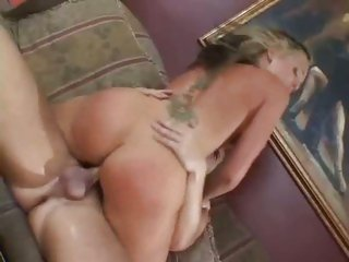 Seductive Flower Tucci rides her pussy on a big ramrod