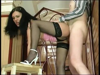 Young babe and dad have a fun fuck